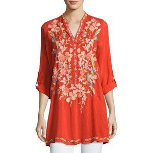 Johnny Was Nikky Embroidered Georgette Tun…